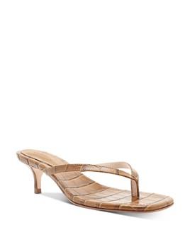 SCHUTZ - Women's Ivone Slip On Mid-Heel Thong Sandals