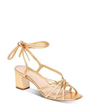 Women's Libby Tie-Strap Mid-Heel Sandals