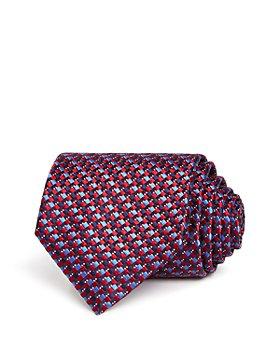 Ermenegildo Zegna - Interlocking Square Silk Classic Tie