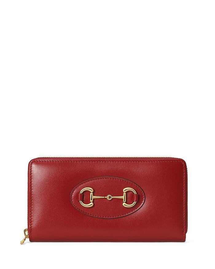 Gucci - 1955 Horsebit Leather Zip Wallet