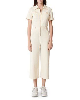 Maje - Pytie Zip-Up Short-Sleeve Cotton Jumpsuit