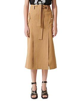 Maje - Jude Belted Midi Skirt