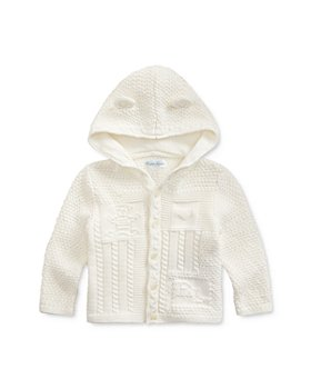 Ralph Lauren - Unisex Combed Cotton Hooded Cardigan - Baby