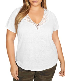 Sanctuary Curve - Virginie Lace-Trim Tee