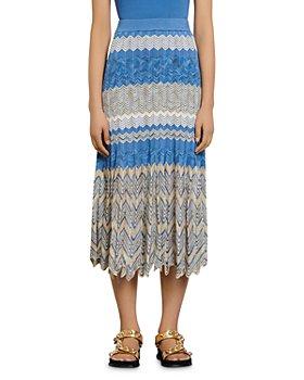 Sandro - Soria Chevron Knit Midi Skirt