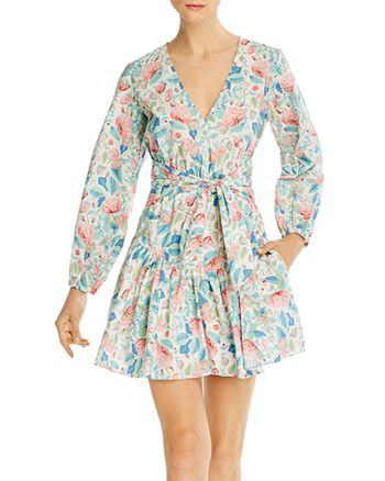 Rebecca Taylor - Cotton Printed Fit-and-Flare Dress