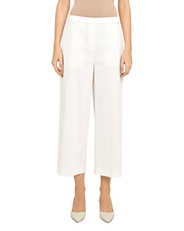 Theory - 'Good Linen' Wide Leg Pull-On Pants