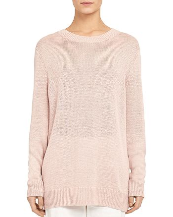 Theory - Linen-Viscose Crewneck Sweater