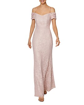 Laundry by Shelli Segal - Cold-Shoulder Lace Gown