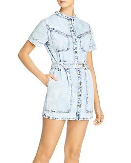 Bardot - Cotton Stacey Jean Dress in Acid Wash