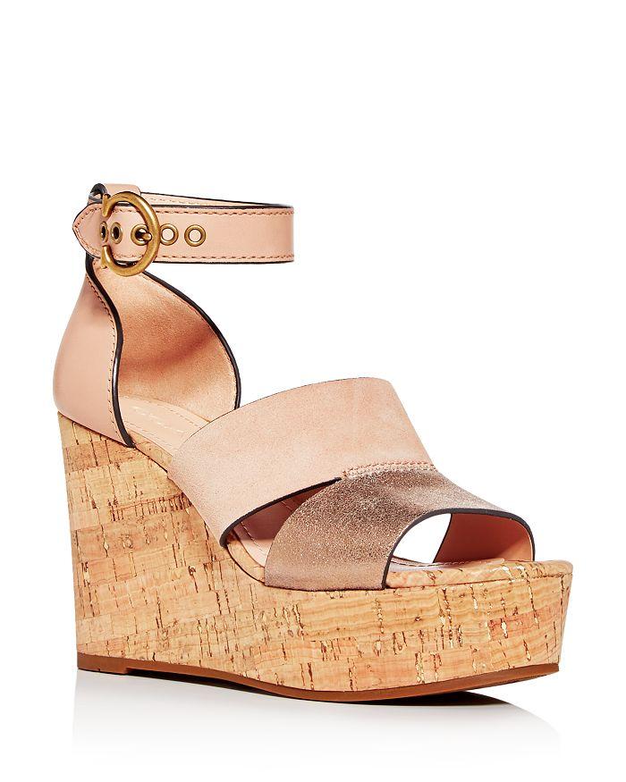 COACH - Women's Isla Cork Platform Wedge Sandals