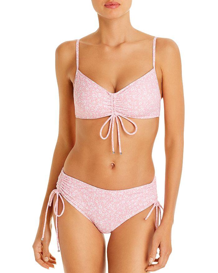 Jonathan Simkhai - Alina Floral Print Bikini Top & Kimberly Printed Ruched Bikini Bottom