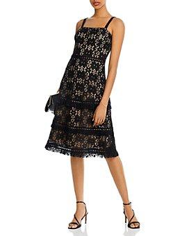 AQUA - Lace Midi Dress - 100% Exclusive