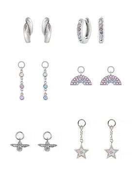Olivia Burton - Rainbow House of Huggies Hoop Earrings Gift Set in Sterling Silver