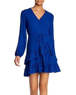 1.STATE - Tiered Ruffle Wrap Dress