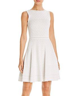 PAULE KA - Jacquard Mini Fit-and-Flare Dress