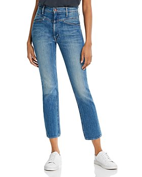 MOTHER - The Dazzler Yoke-Front Ankle Jeans in Wander Dust