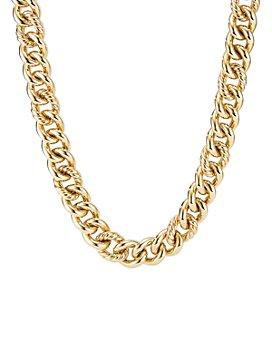 "David Yurman - Curb Chain Necklace in 18K Yellow Gold, 16"""