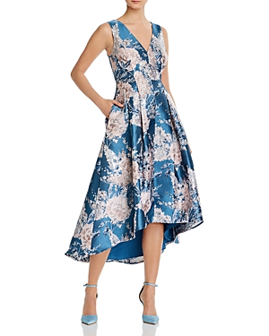 Eliza J Floral Print Fit-and-Flare Dress-Women
