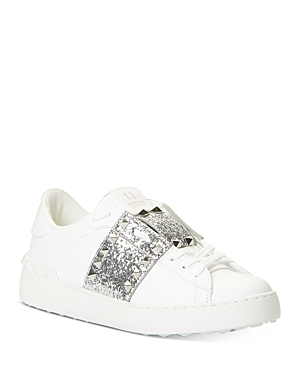 Valentino Women\\\'s Studded Glitter Sneakers