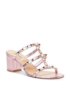 Valentino Garavani - Women's Rockstud Block Heel Slide Sandals
