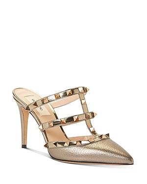 Valentino Garavani Women\\\'s Studded High-Heel Mule Pumps