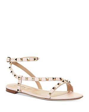 Valentino Garavani Women\\\'s Rockstud Flat Sandals