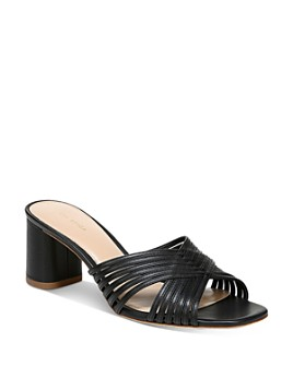 Via Spiga - Women's Rafaela Crisscross Mid-Heel Sandals