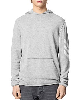 Zadig & Voltaire - Cashmere Hoodie With Intarsia Sleeve