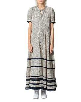 Zadig & Voltaire - Regard Floral-Print Striped Cotton Maxi Dress