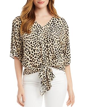 Karen Kane Cheetah Print Tie Hem Top-Women