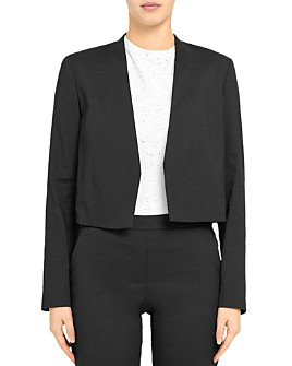 Theory - Crepe Collarless Blazer