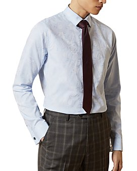 Ted Baker - Gratest Cotton Jacquard Slim Fit Shirt