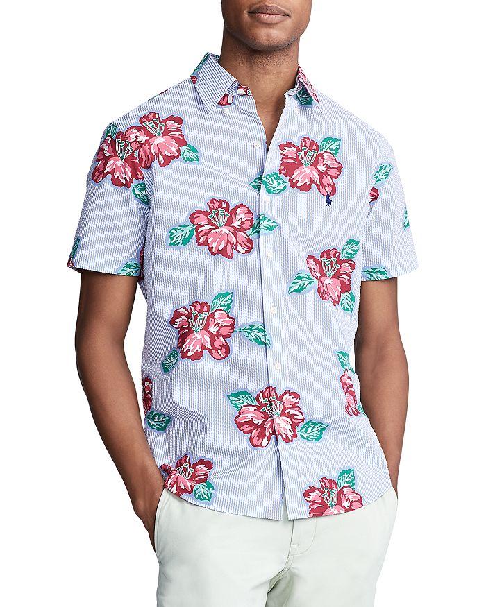 Polo Ralph Lauren - Floral Seersucker Classic Fit Short Sleeve Button-Down Shirt