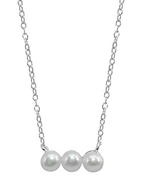 """AQUA - Cultured Freshwater Pearl Bar Necklace, 15.5""""-17.5"""" - 100% Exclusive"""