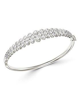 Bloomingdale's - Diamond Bangle Bracelet in 14K White Gold, 3.10 ct. t.w. - 100% Exclusive