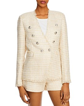 AQUA - Fringe-Trim Tweed Blazer - 100% Exclusive