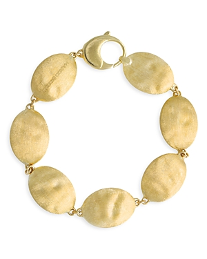 Marco Bicego 18K Yellow Gold Siviglia Hammered Disc Link Bracelet-Jewelry & Accessories