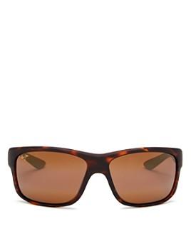 Maui Jim - Men's Southern Cross Polarized Square Wrap Sunglasses, 63mm
