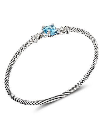 David Yurman - Chatelaine® Bracelet with Blue Topaz and Diamonds