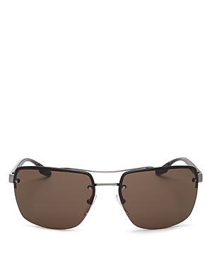 Prada Men\\\'s Brow Bar Square Sunglasses, 62mm