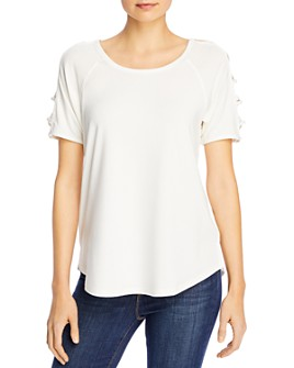 Avec - Laddered Raglan-Sleeve Top