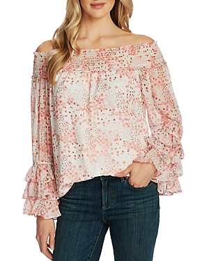 CeCe Floral Off-the-Shoulder Blouse-Women