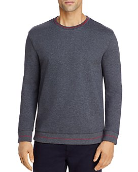 HUGO - Drick Cotton French Terry Piped Regular Fit Sweater