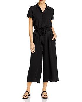 Theory - Silk Workwear Wide-Leg Jumpsuit