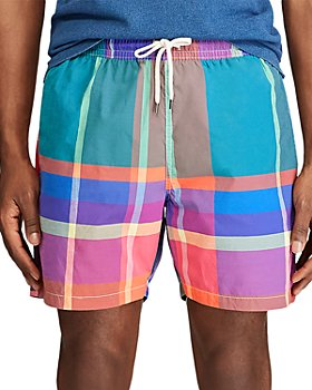 Polo Ralph Lauren - Traveler Plaid Swim Trunks