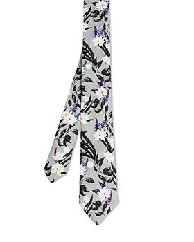 Ted Baker - Painted Floral Silk Skinny Tie