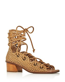 Stella McCartney - Women's Faler Woven Gladiator Block-Heel Sandals