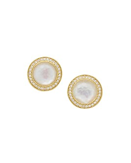 IPPOLITA - 18K Yellow Gold Lollipop® Mother-of-Pearl & Rock Crystal Doublet & Diamond Stud Earrings