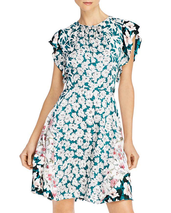 Rebecca Taylor - Serene Flowers Patchwork Dress